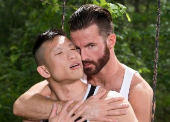 "Bearded stud Brendan Patrick fucks Jessie Lee in ""I Feel A Hunger"" from Icon Male"