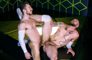 "Buck Richards and Eddie West fuck each other in ""Gaymers"" part 4 from Raging Stallion"