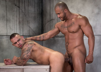 "Jason Vario fucks Lorenzo Flexx in ""It's Coming"" part two from Raging Stallion"