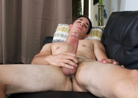 Handsome newcomer Johnny Miles plays with his fat cock at Active Duty