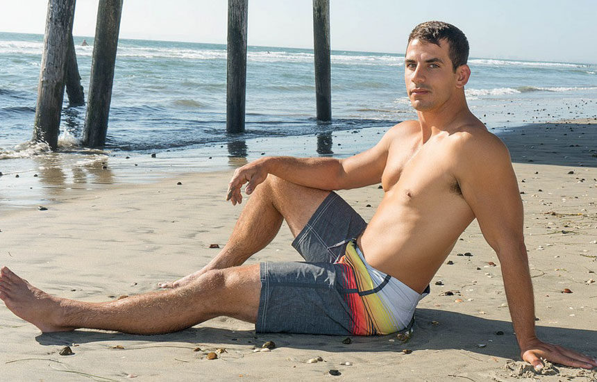 Hot surfer boy Lachlan gets naked and rubs out a load for Sean Cody