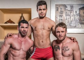 """Billy Santoro, Shawn Reeve & Rico Marlon in """"Hole & Face"""" from Lucas Entertainment"""