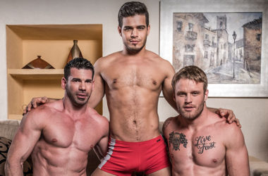 "Billy Santoro, Shawn Reeve & Rico Marlon in ""Hole & Face"" from Lucas Entertainment"