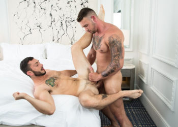 Johnny Riley receives a hard pounding from Steve Rogers at Next Door Studios