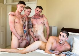 "Markie More, Lance Ford, Chris Blades and Damien Kyle fuck in ""Swinger Stories"""