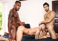 """Pheonix Fellington and Diego Sans fuck Max Wilde in """"Tre Sesso"""" from Men.com"""