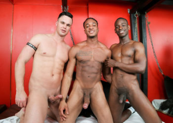 Beau Reed is Trent King's fuck slave in a Next Door threeway with River Wilson