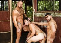 """Damien Stone, Michael Roman and Paul Canon fuck in """"The Bayou"""" part three"""