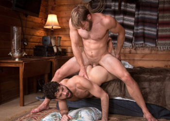 "Tegan Zayne gets fucked by Colby Keller in ""Trapped"" part four from Raging Stallion"