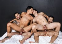 """Roman Todd, Cliff Jensen, Ethan Slade and Will Braun in """"Fuck Me Silly"""" part 3"""