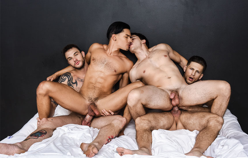 "Roman Todd, Cliff Jensen, Ethan Slade and Will Braun in ""Fuck Me Silly"" part 3"