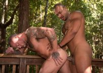 """Sean Duran takes Jason Vario's big uncut dick in """"Trapped"""" part 3 from Raging Stallion"""
