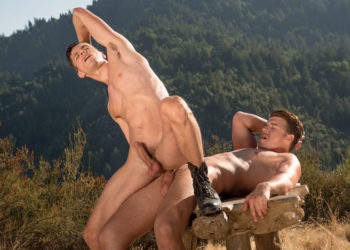 """Alex Chandler rides JJ Knight's big dick in """"Head Play"""" part four from Falcon Studios"""