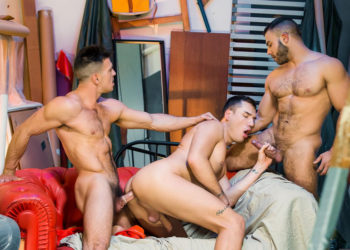 """Paddy O'Brian, Theo Ford and Diego Reyes fuck in """"Paranormal"""" part three"""