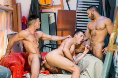 "Paddy O'Brian, Theo Ford and Diego Reyes fuck in ""Paranormal"" part three"