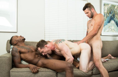 "Pheonix Fellington, Johnny Hill and Markie More in ""Beach Bros"" from Next Door Studios"