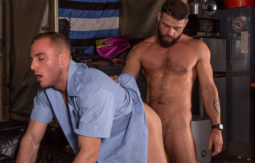 "Tex Davidson slams his big cock deep inside Jacob Durham's ass in ""LA Cruising"" part 2"