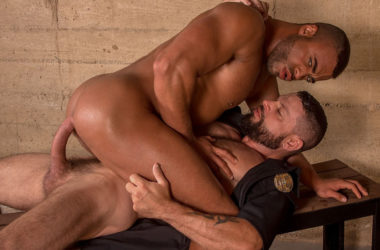 "Micah Brandt takes Tex Davidson's big dick in ""Bad Cop 2"" part 2 from Titan Men"