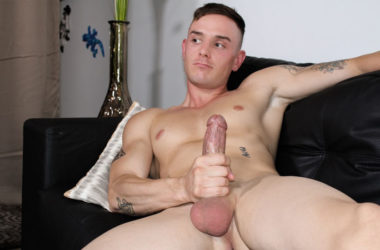 Troi King plays with his big juicy cock at Active Duty