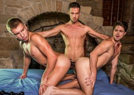 "Damon Heart & Bogdan Gromov double-penetrate Devin Franco in ""The XXX Files"""