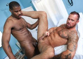"""Doctor Adonis Couverture fucks Michael Roman in """"Wow Doc!"""" from Pride Studios"""