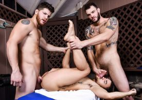 """Ashton McKay and Cliff Jensen tag-team Beaux Banks in """"Couples Massage"""" part two"""