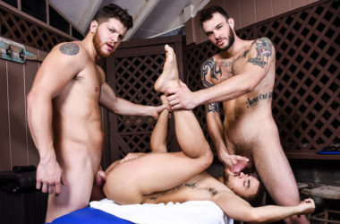 "Ashton McKay and Cliff Jensen tag-team Beaux Banks in ""Couples Massage"" part two"