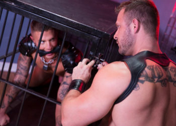 "Muscle stud Austin Wolf fucks Danny Gunn in ""Skuff: Dog House"" part 4 from Hot House"
