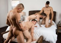 Fit young hunks Quentin Gainz, Eric Turner, Zey Hardy & Gunner Canon in a raw foursome