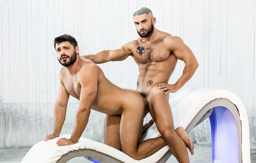 """Nicolas Brooks gets his ass fucked by Francois Sagat in """"Uncut Legends"""" part three"""