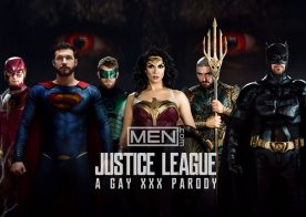 """Here's the trailer for the upcoming Men.com gay porn parody series """"Justice League"""""""
