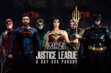 "Here's the trailer for the upcoming Men.com gay porn parody series ""Justice League"""