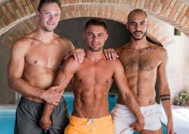 Klim Gromov gets double-fucked by Patrick Dei and Andrey Vic at Lucas Entertainment