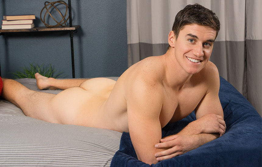 Charming newcomer Koby jerks off in his Sean Cody debut