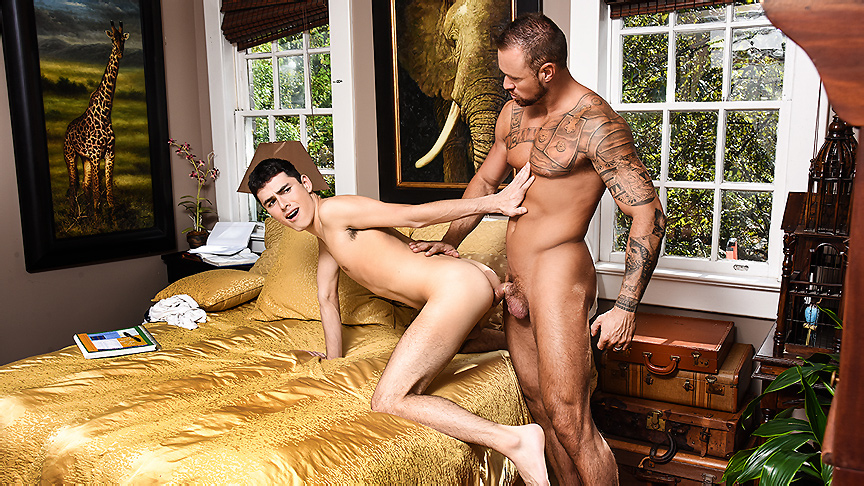 Michael Roman fucks Xavier Ryan in The DILF Diaries part 2