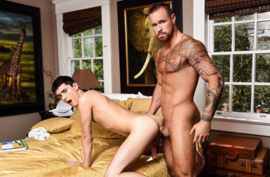 "Michael Roman fucks Xavier Ryan's smooth hole in ""The DILF Diaries"" part two"
