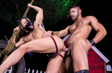 "Seth Santoro fuck Beaux Banks' puppy hole in ""Skuff: Dog House"" part three"