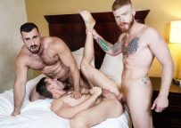 """Jaxton Wheeler and Bennett Anthony fuck Jacob Peterson in """"Just Fuck the Third Wheel"""""""