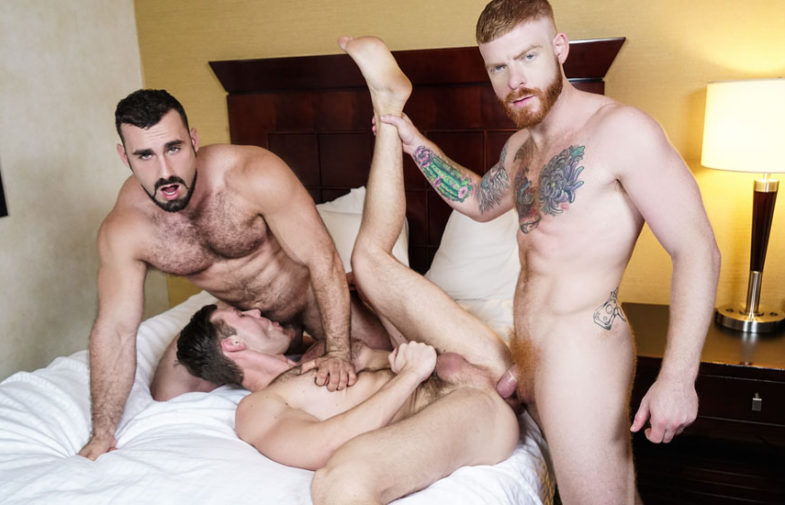 "Jaxton Wheeler and Bennett Anthony fuck Jacob Peterson in ""Just Fuck the Third Wheel"""
