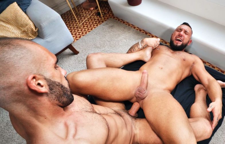 Jake Cook bottoms for big-dicked TimTales newcomer Adam Sahar
