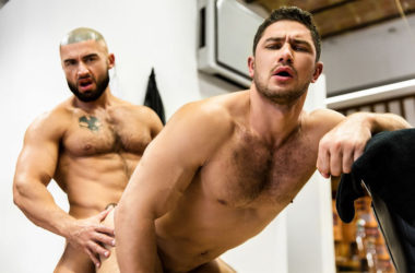 "Francois Sagat and Dato Foland fuck each other in ""Skilled Tricks"" part three"