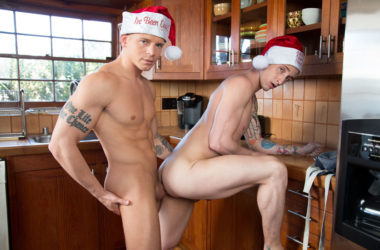 """Lance Ford bottoms for Gunner Canon in """"Gingerbread Bounce"""" from Next Door Studios"""