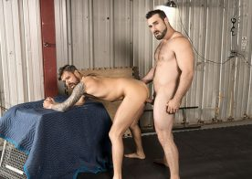 """Jaxton Wheeler fucks Teo Carter's bare ass in """"Fight to the Top"""" from Bromo"""