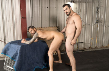 "Jaxton Wheeler fucks Teo Carter's bare ass in ""Fight to the Top"" from Bromo"