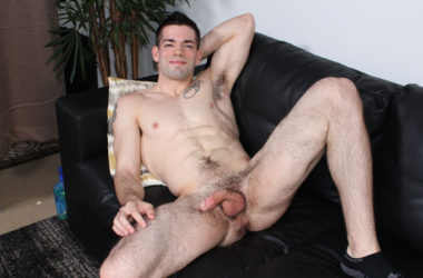 Julian Brady jerks off for Active Duty and shoots a big load all over himself