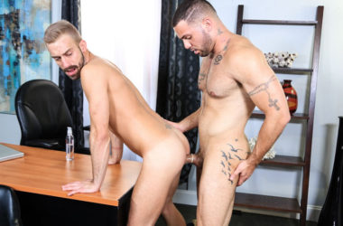 "Julian Knowles fucks Jett Rink in ""Surprise Office Visit"" from Pride Studios"