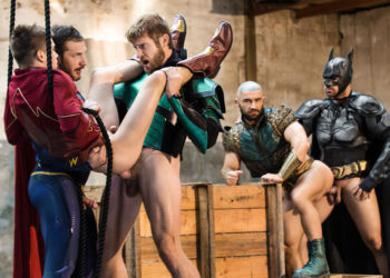 Justice League 4: Colby Keller, Johnny Rapid, Ryan Bones, Francois Sagat & Brandon Cody
