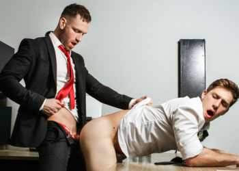 "Kit Cohen bangs Paul Canon's ass in ""Ass Controller"" part one from Men.com"