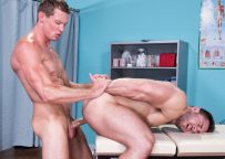 """Pierce Paris and Derek Bolt flip-fuck in """"Private Practice part three from Hot House"""