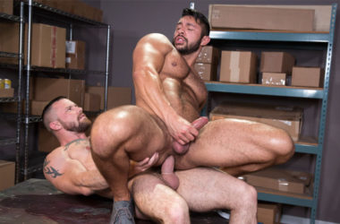"Seth Santoro rides Sergeant Miles' big cock in ""24 Hour Boner"" part 4 from Raging Stallion"